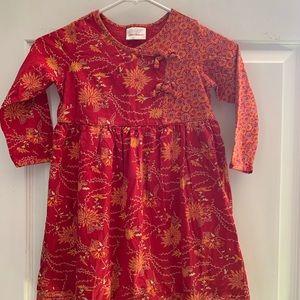 Hanna Andersson Beautiful Flowered Dress 110 ❤️🧡